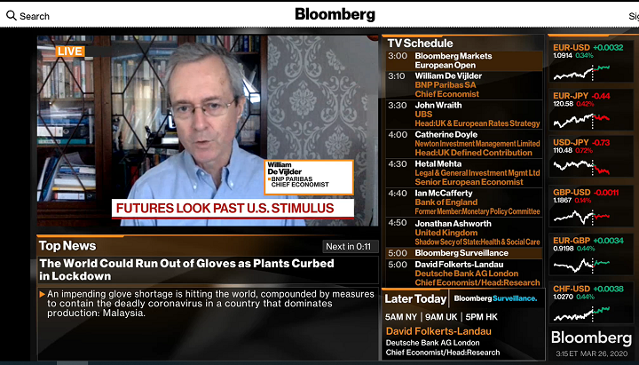 Interview Bloomberg TV March 26
